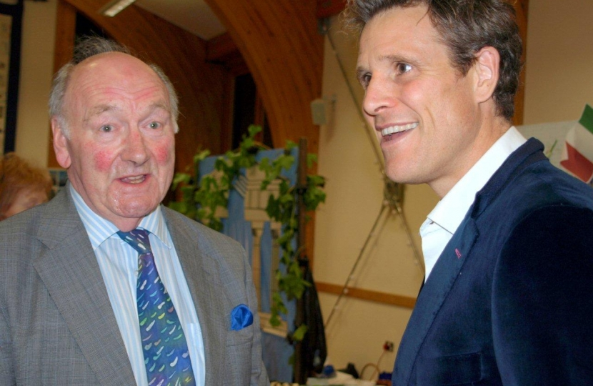 DCCA Chairman Lionel Grundy OBE & Mr. James Cracknell OBE